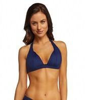 DKNY Brigitte Solid Halter Bra Bikini Top