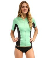Rip Curl Women's Beach Party S/S Front Zip Rashguard