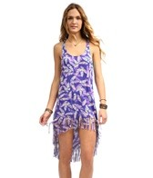 Hobie Plumed Fringe Hi-Lo Dress