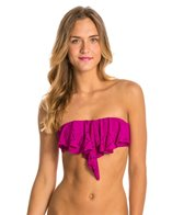 L-Space Flutter Bye Hunter Rose Bandeau Top