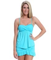 Kenneth Cole Reaction Ruffle-Licious Twist Tankini Top