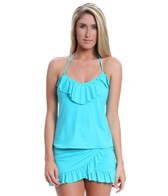 Kenneth Cole Reaction Ruffle-Licious Halter Tankini Top