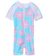 Snapper Rock Baby Girls' Hibiscus S/S Sunsuit (0-2yrs)