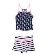 Snapper Rock Girls' Navy Seahorse Tankini Set (4-6yrs)