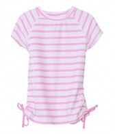 Snapper Rock Girls' Pink Stripe S/S Rashguard (4-6yrs)