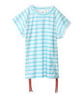 Snapper Rock Girls' Aqua Stripe S/S Rashguard (8-14yrs)