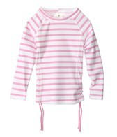Snapper Rock Girls' Pink Stripe L/S Rashguard (4-6yrs)