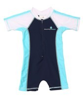 Snapper Rock Baby Boys' Navy/Aqua/White S/S Sunsuit (0-2yrs)