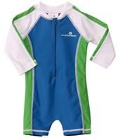 Snapper Rock Baby Boys' Marine/Blue/Green L/S Sunsuit (0-2yrs)