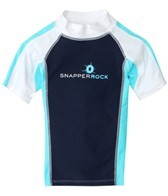 Snapper Rock Boys' Aqua/Navy S/S Rashguard (4-6yrs)