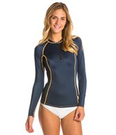 O'Neill Women's Seaside L/S Zip Crew Rashguard