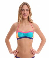 Roxy Golden Girl Shirred Bandeau Bikini Top