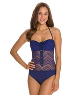 BLEU Rod Beattie Peep Show Crochet Bandeau One Piece