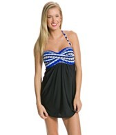 Athena Festival Stripe Bandeau Swim Dress