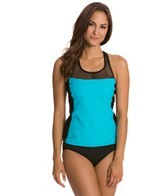 Nautica Women's Full Speed Mesh Tankini Top