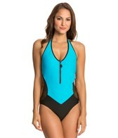 Nautica Women's Full Speed Zip Front One Piece