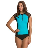 Nautica Women's Zip Front Surf Shirt