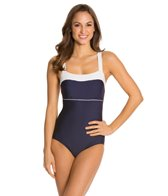 Nautica Women's Signature Zip Front One Piece