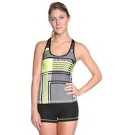 Trina Turk Stripe Hype Mesh Back Tank Top