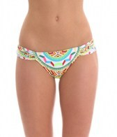Mara Hoffman Jungle Trip Ruched Side Bikini Bottom