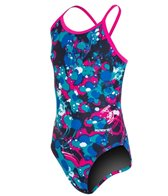 Sporti Paint Splatter Thin Strap Swimsuit Youth