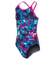 Sporti Paint Splatter Thin Strap Swimsuit Youth