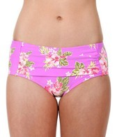 Betsey Johnson Hawaiian Vacation Retro High Waist Bikini Bottom