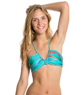 Luli Fama Mermaid Glitter Intertwine Scoop Halter Top