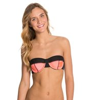 Hurley Good Sport Underwire Bandeau Bra Bikini Top