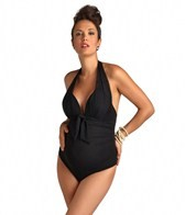 Pez D'or Maternity Santorini Mesh Halter One Piece