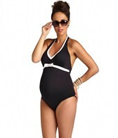 Pez D'or Maternity Santorini Halter Bow One Piece