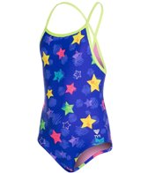 TYR Girls' Star Bright Diamondfit One Piece