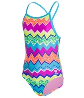 TYR Girls' Swirl Pool Diamondfit One Piece