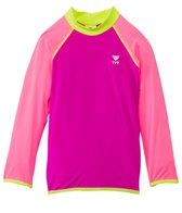 TYR Girls' Long Sleeve Solid Rashguard