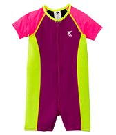 TYR Girls' Short Sleeve Solid Thermal Suit