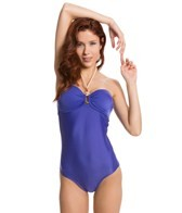 Vix Solid Blue Bandeau One Piece