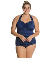 Esther Williams Solid Classic Sheath One Piece