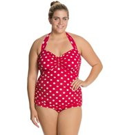 Esther Williams Polka Dot Classic Sheath One Piece