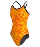 Sporti Waves Thin Strap Swimsuit Youth