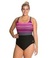 TYR Ombre Stripe Aqua Controlfit Plus Size