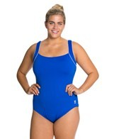 TYR Solid Square Neck Controlfit Plus Size