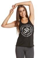Funky Yoga Sanskrit Om Circle Tank