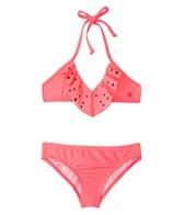 Hurley Girls' Stagger Flutter Top Retro Bottom Bikini Set (7-14)