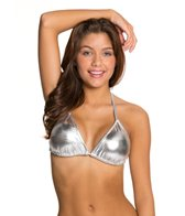 UJENA Metallic Triangle Bikini Top