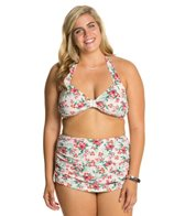 Bettie Page Plus Romance Halter Bikini Set