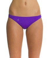 Lo Swim Women's Three Braid Training Bikini Swimsuit Bottom w/ Free Hair Tie