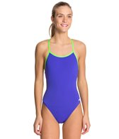 Dolfin All Poly Female Varsity Solid String Back Swimsuit