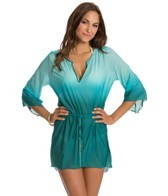 Aerin Rose Ombre Emerald Drawstring Tunic