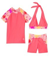 Tuga Girls' Tropical Pop 3 Piece Rashguard Set (4-14)