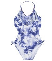 Gossip Girl Denim Tie Dye Cut Out One Piece (4-6x)
